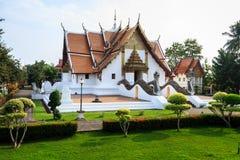 Wat Phumin, Muang区,楠府,泰国 寺庙是一个公共场所 创造100岁 免版税图库摄影