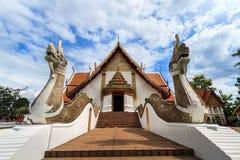Wat Phumin, Muang区,楠府,泰国 寺庙是一个公共场所 创造100岁 免版税库存照片