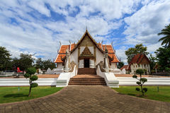 Wat Phumin, Muang区,楠府,泰国 寺庙是一个公共场所 创造100岁 图库摄影