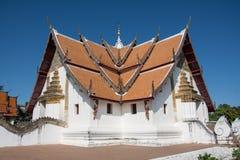 Wat Phumin è un tempio tradizionale tailandese unico nella provincia di Nan Immagini Stock Libere da Diritti
