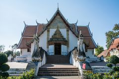 Wat Phumin è un tempio tradizionale tailandese unico nella provincia di Nan Fotografia Stock
