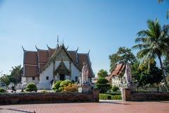 Wat Phumin è un tempio tradizionale tailandese unico nella provincia di Nan Immagine Stock