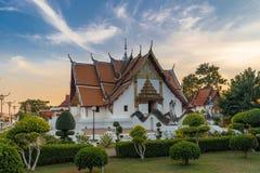 Wat Phumin is een beroemde tempel in Nan-provincie, Thailand stock foto's