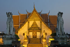 Wat Phumin Temple At Night Stock Photos