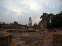 Wat Phutthaisawan在阿尤特拉利夫雷斯,泰国 图库摄影