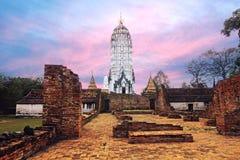 Wat Phutthaisawan Ayutthaya, Thailand, en tempel av stor betydelse och lång historia royaltyfri foto