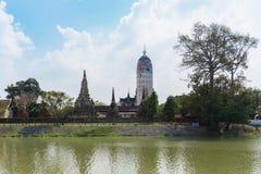 Wat Phutthaisawan för härlig sikt tempel i Ayutthaya Thailand Arkivfoto