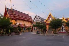 Wat Pichai Songkram. Buddhist Temple on Ayutthaya River. Main building of Wat Pichai Songkram at sunset. Buddhist temple in Ayutthaya, Thailand stock photo