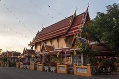 Wat Pichai Songkram. Buddhist Temple on Ayutthaya River. Main building of Wat Pichai Songkram at sunset. Buddhist temple in Ayutthaya, Thailand stock photos