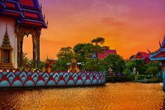 Wat Plai Laem. Buddhistic temple on Koh Samui, Thailand Royalty Free Stock Photography