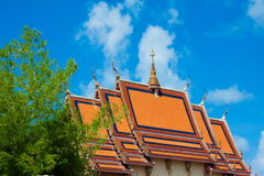 Wat Plai Laem tempel Arkivfoto
