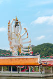 Wat Plai Laem temple with 18 hands God statue Guan Yin on Koh Sa Royalty Free Stock Images