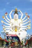Wat Plai Laem temple, Samui, Thailand. Wat Plai Laem - an active Buddhist temple compound on north-east coast of Samui island, Thailand, featuring a striking Royalty Free Stock Photo
