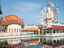 Wat Plai Laem Thailand sightseeing Royalty Free Stock Image