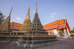 Wat Po寺庙的塔的 免版税库存图片