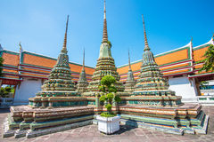 WAT PO Μπανγκόκ. Ο διασημότερος ναός στην Ταϊλάνδη Στοκ φωτογραφία με δικαίωμα ελεύθερης χρήσης