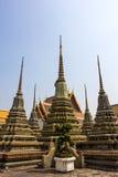 Wat Po ο ναός του βουδισμού ταξιδιού με σκοπό τις διακοπές παγοδών της Ταϊλάνδης Στοκ Εικόνες