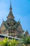 WAT PO Bangkok. Den mest berömda templet i Thailand Arkivbilder