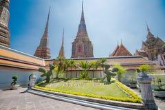 WAT PO Bangkok. Den mest berömda templet i Thailand Arkivfoto