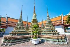WAT PO Bangkok. Den mest berömda templet i Thailand Royaltyfri Fotografi