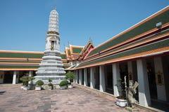 WAT PO Bangkok. Den mest berömda templet i Thailand Arkivfoton