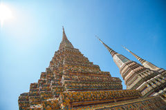 WAT PO Bangkok. Den mest berömda templet i Thailand Arkivbild