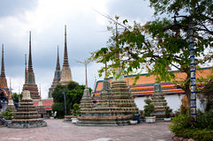 Wat Po Chedi. Some of the many chedi at the Wat Po temple in Bangkok, Thailand Stock Photo