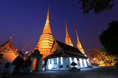 Wat Po temple. Wat Po, The temple of reclining Royalty Free Stock Image