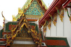 Wat Po Temple. A detailed view of the beautiful Wat Po temple in Bangkok, Thailand Stock Photo
