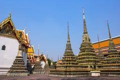 Wat Po The Temple av den Thailand pagoden Royaltyfria Foton