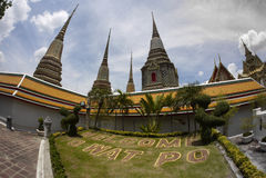 Wat Po The Temple de la pagoda de Tailandia Imagen de archivo