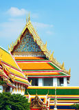Wat Po Temple. Fragment in Bangkok, Thailand Royalty Free Stock Photo