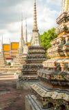 Wat Po, The Temple of reclining buddha, Bangkok, Thailandia-4. Wat Po, The Temple of reclining Buddha in Bangkok, Thailanda. The stupas are decorated with Stock Images