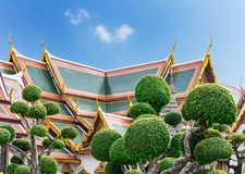 Wat Po Temple roofs Stock Images