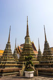 Wat Po The Temple of Thailand pagoda Holiday Travel Buddhism Stock Photo