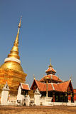 Wat Pong Sanook with bluesky background, Thailand Royalty Free Stock Image