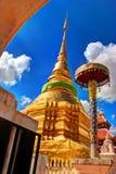 Wat Pong Sanuk Temple arkivfoton