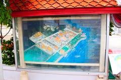 Wat Poramai Yikawat-kaart, Koh Kret, Bangkok, Thailand royalty-vrije stock foto's