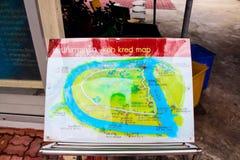 Wat Poramai Yikawat-kaart, Koh Kret, Bangkok, Thailand stock fotografie