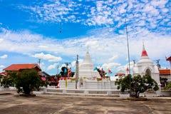 Wat Poramai Yikawat, Koh Kret, Bangkok, Thailand stock afbeelding