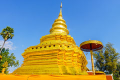 Wat Pra那个Sri Jom皮带寺庙 免版税库存图片