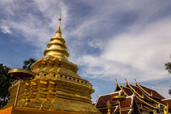 Wat Pra που vora Chomthong vihan, Chedi σε Chiangmai  Στοκ εικόνα με δικαίωμα ελεύθερης χρήσης