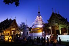 Wat Pra canta Chaingmai Tailandia Imagenes de archivo