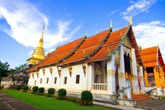 Wat Pra That Chang Kham Nan Thailand Royaltyfria Bilder
