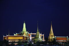 Wat pra kaew公开寺庙盛大宫殿,曼谷泰国 库存照片