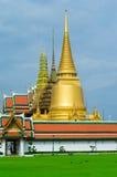Wat Pra Kaew皇宫在曼谷,泰国 免版税库存图片