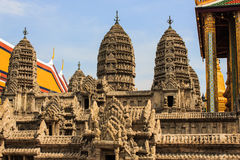 Wat Pra Kaew,鲜绿色菩萨的寺庙 免版税图库摄影