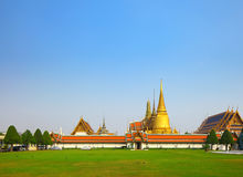 Wat pra kaew, Grand palace in Thailand. At day time stock photos