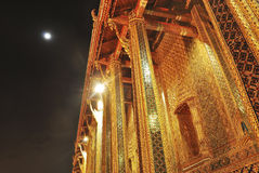 Wat pra kaew großartiger Palast nachts Bangkok Lizenzfreie Stockfotografie