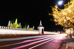Wat pra kaew Public Temple Grand palace at night, Bangkok Thailand Royalty Free Stock Image
